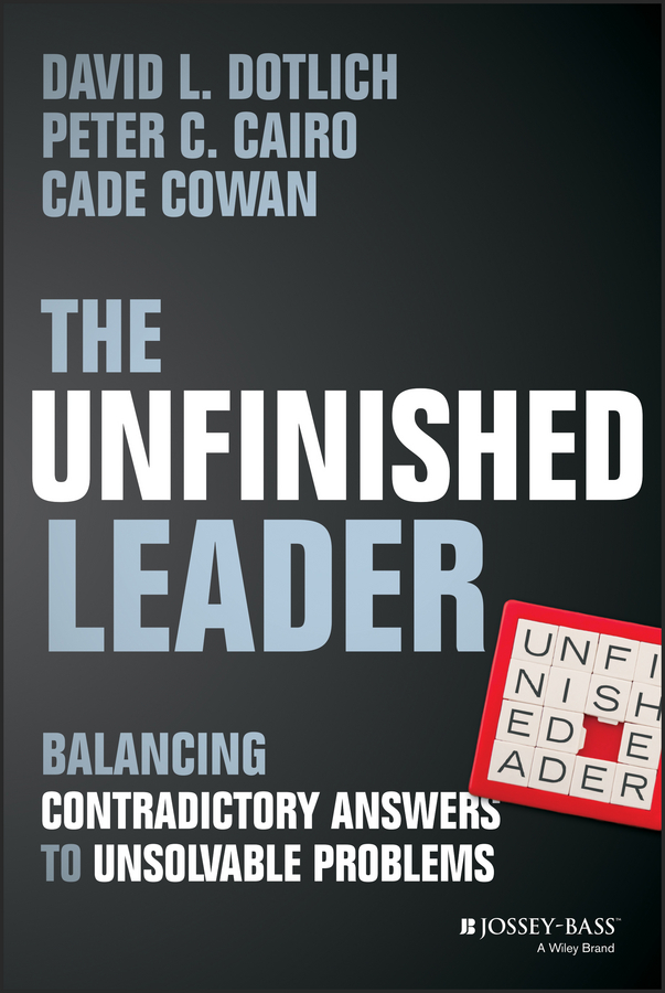 The Unfinished Leader. Balancing Contradictory Answers to Unsolvable Problems
