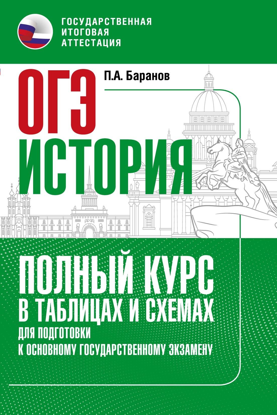 П. А. Баранов История. Полный курс в таблицах и схемах для подготовки к ОГЭ. 6–9 классы
