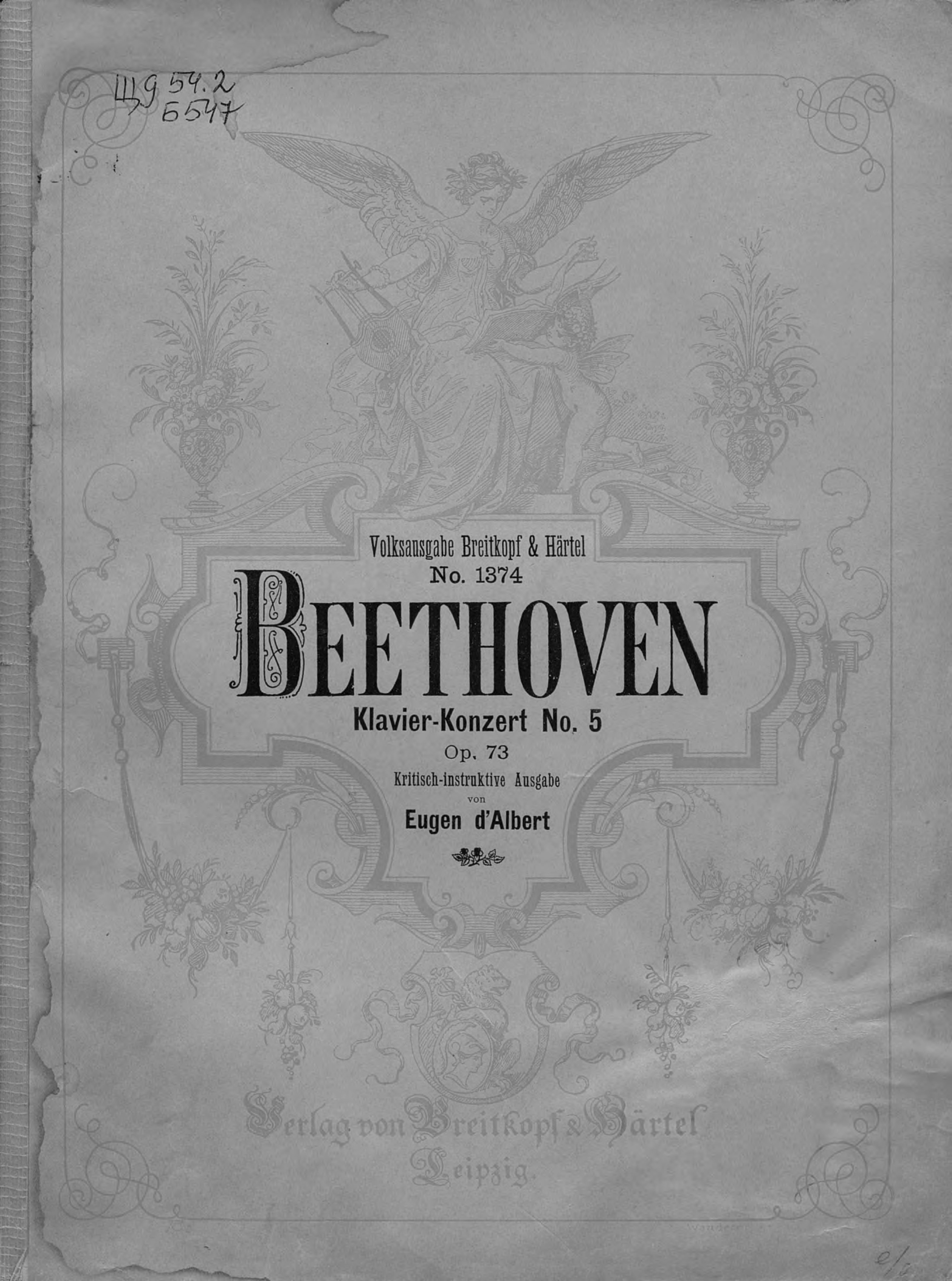 Людвиг ван Бетховен Klavier-Konzert № 5 op. 73 (Es-dur) цена в Москве и Питере