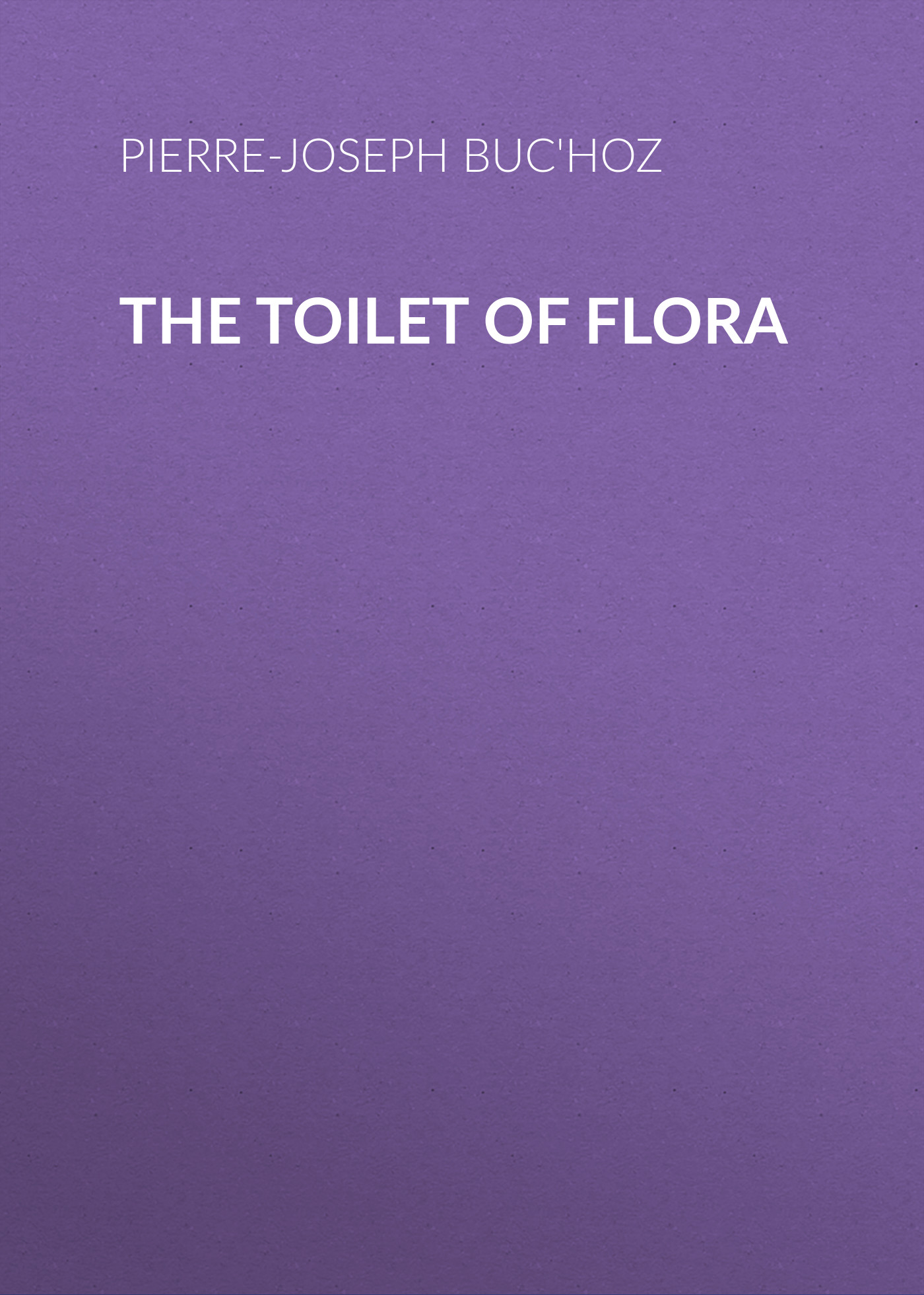 the toilet of flora