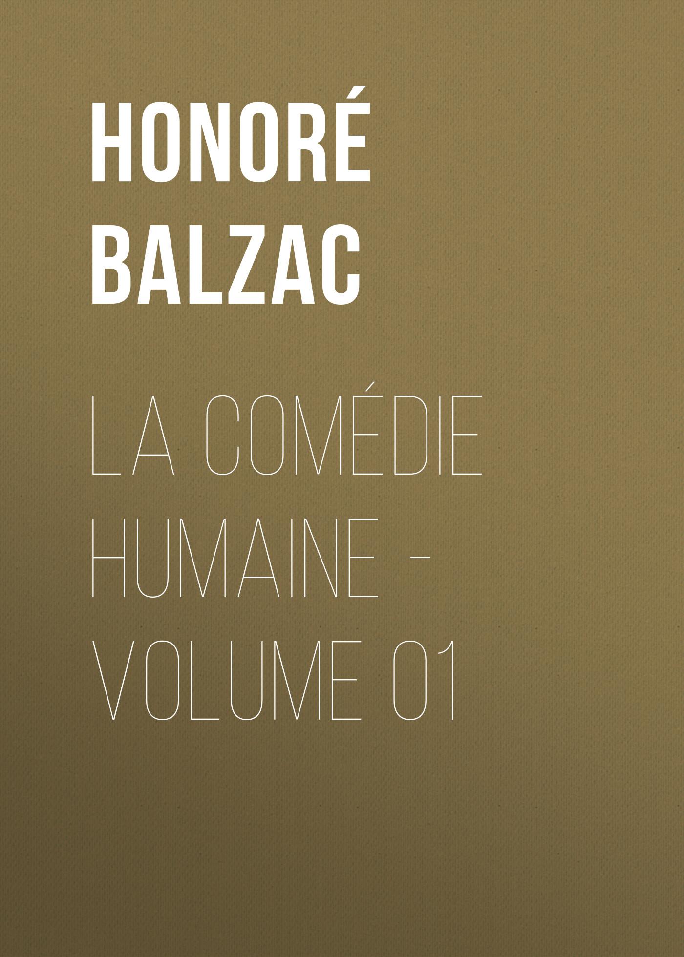 la comedie humaine volume 01