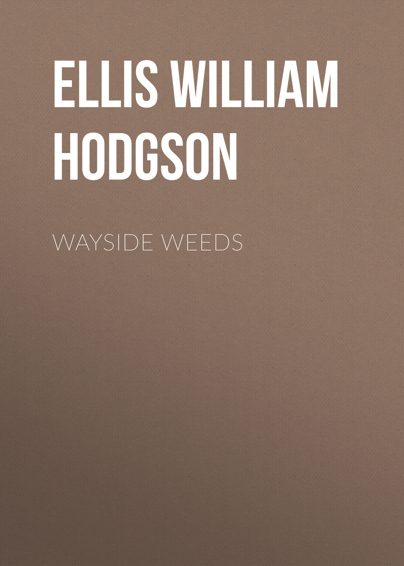 Ellis William Hodgson Wayside Weeds