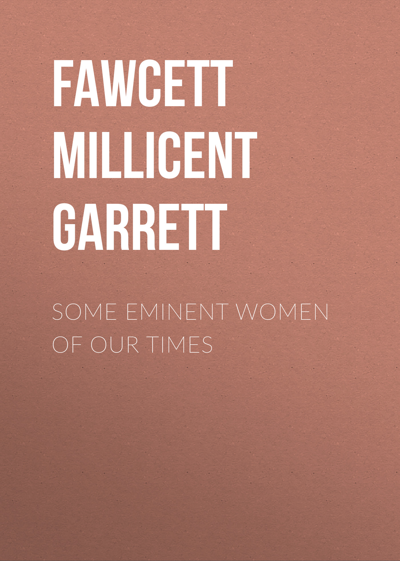 Fawcett Millicent Garrett Some Eminent Women of Our Times stylish solid color hollow our circular shape hairgrip for women