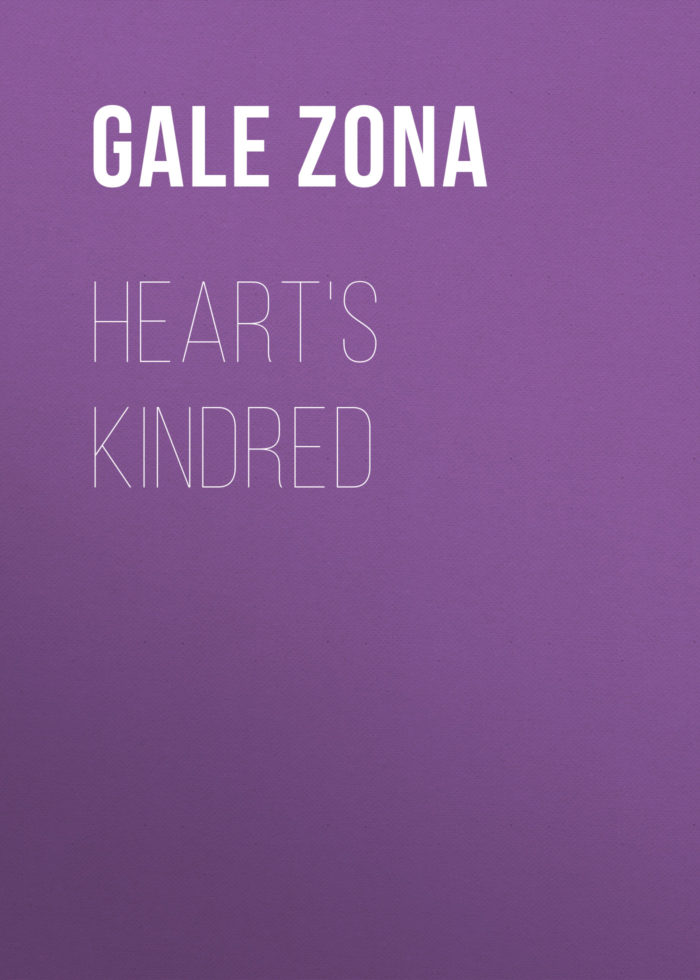 Gale Zona Heart's Kindred gale zona neighborhood stories