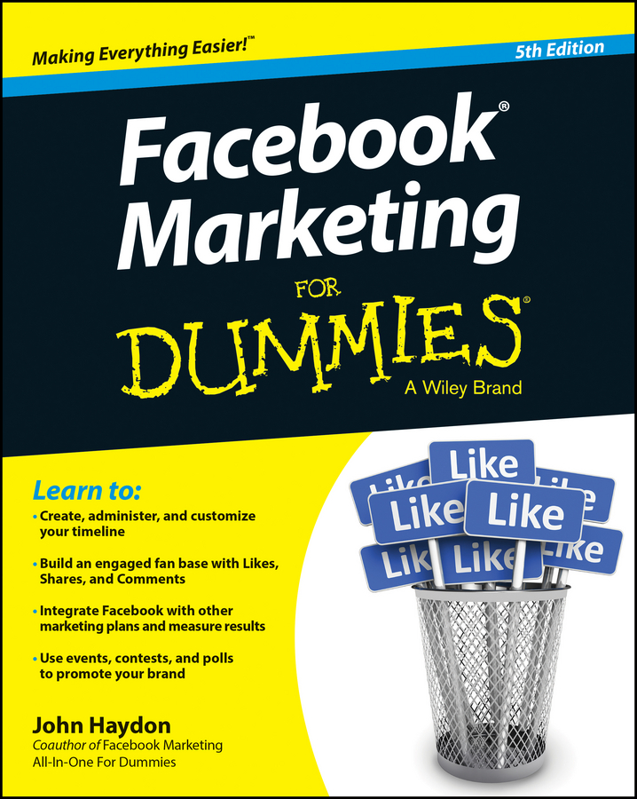 John Haydon Facebook Marketing For Dummies marsha collier facebook and twitter for seniors for dummies