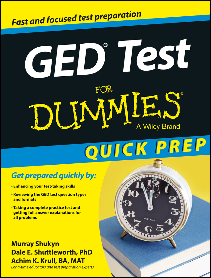 Murray Shukyn GED Test For Dummies, Quick Prep crash test dummies crash test dummies oooh la la