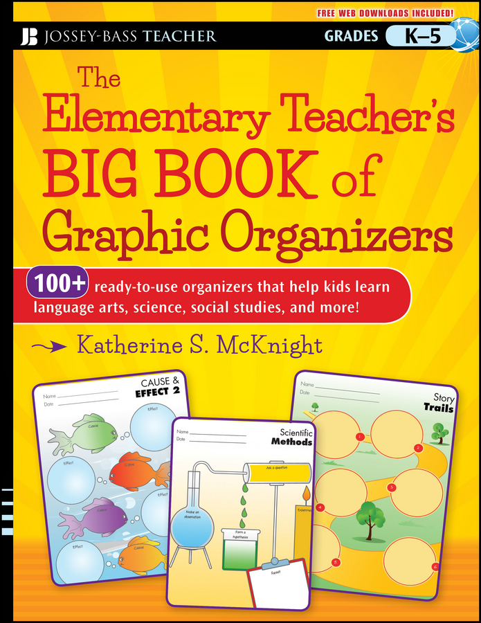 Katherine McKnight S. The Elementary Teacher's Big Book of Graphic Organizers, K-5. 100+ Ready-to-Use Organizers That Help Kids Learn Language Arts, Science, Social Studies, and More barrow tzs1 a02 yklzs1 t01 g1 4 white black silver gold acrylic water cooling plug coins can be used to twist the