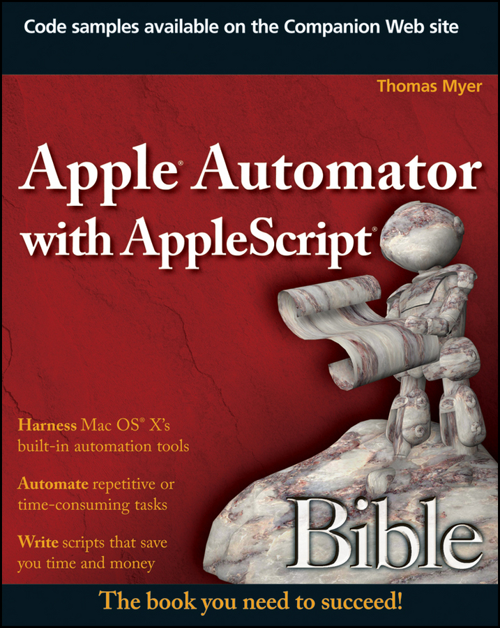 Thomas Myer Apple Automator with AppleScript Bible hugo v the last day of a condemned man
