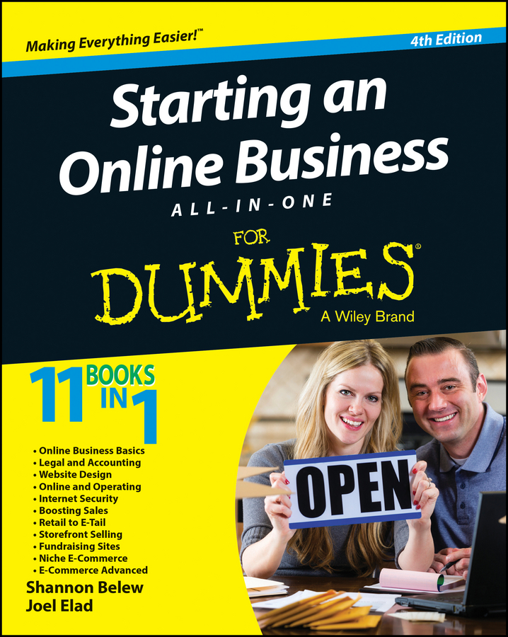 Joel Elad Starting an Online Business All-in-One For Dummies woody leonhard windows 10 all in one for dummies
