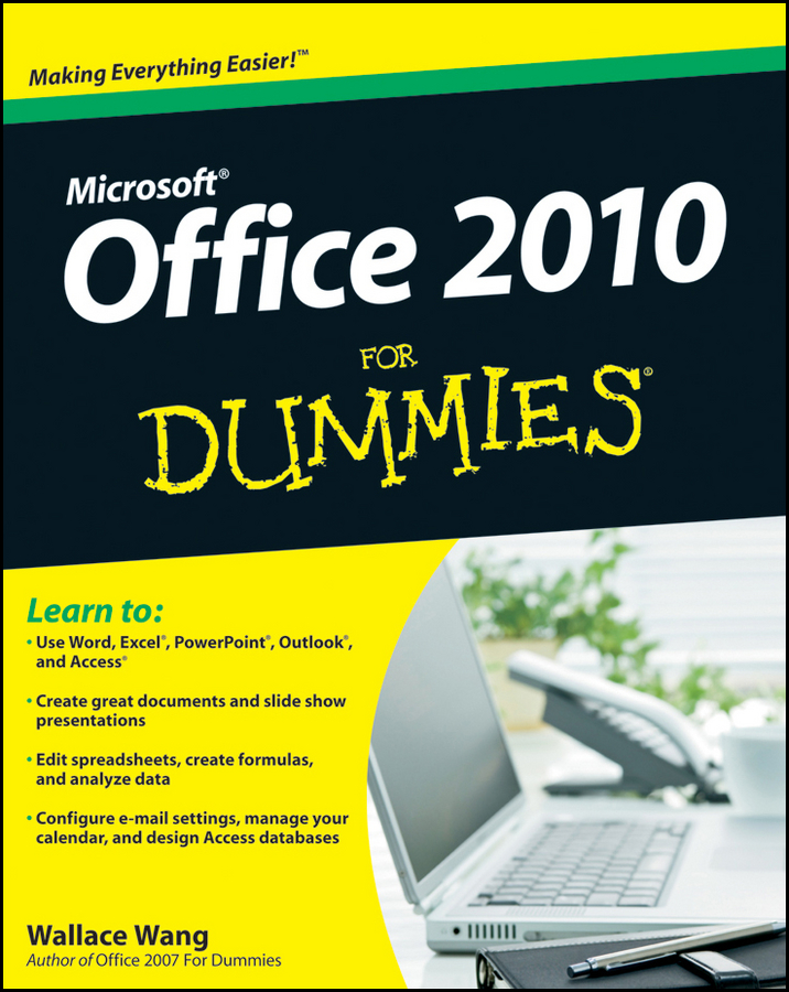 Wallace Wang Office 2010 For Dummies word 2010 elearning kit for dummies