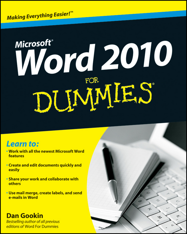 Dan Gookin Word 2010 For Dummies word 2010 elearning kit for dummies