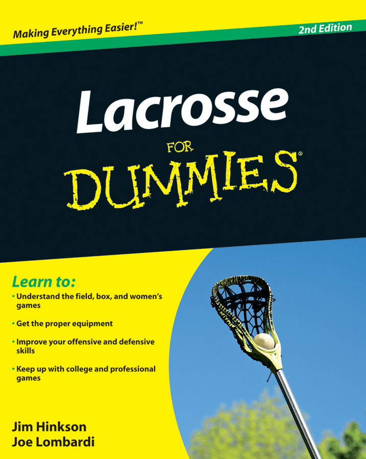 James Hinkson Lacrosse For Dummies james hinkson lacrosse for dummies