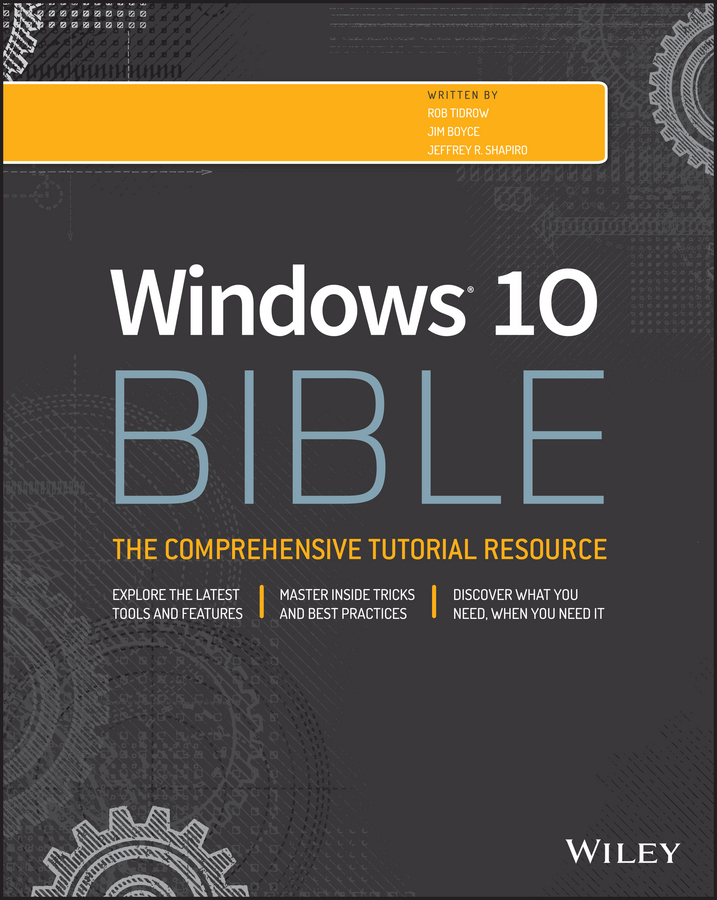 Rob Tidrow Windows 10 Bible pizza bible the