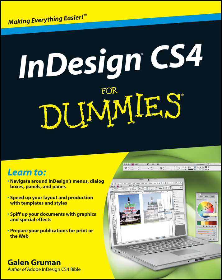 Galen Gruman InDesign CS4 For Dummies агапова и adobe indesign cs4 cd