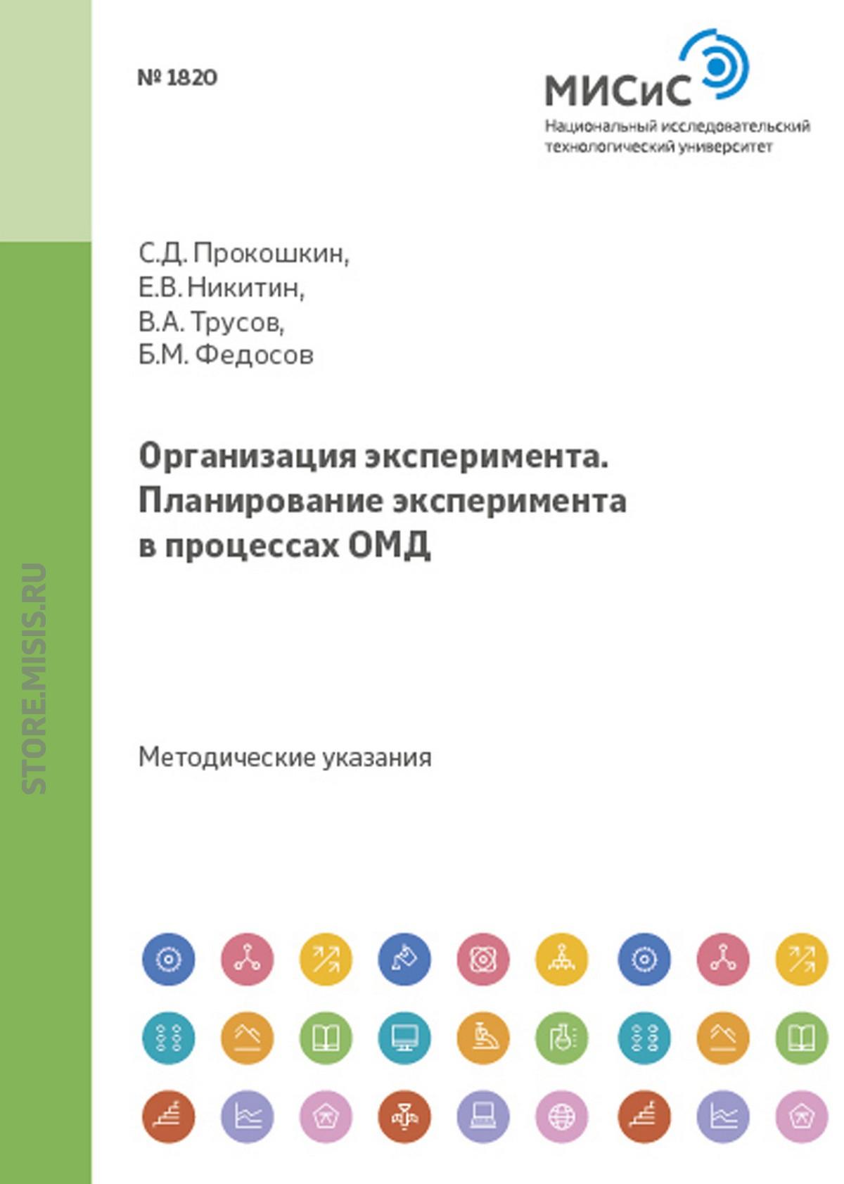 Евгений Никитин Организация эксперимента. Планирование эксперимента в процессах ОМД