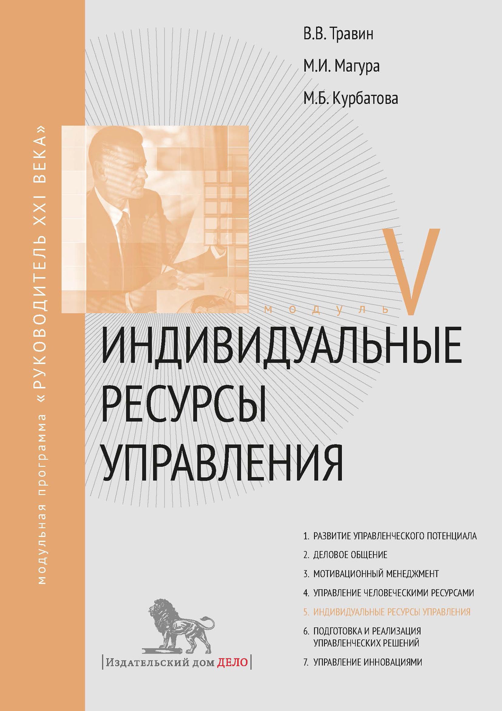 Михаил Магура Индивидуальные ресурсы управления. Модуль V
