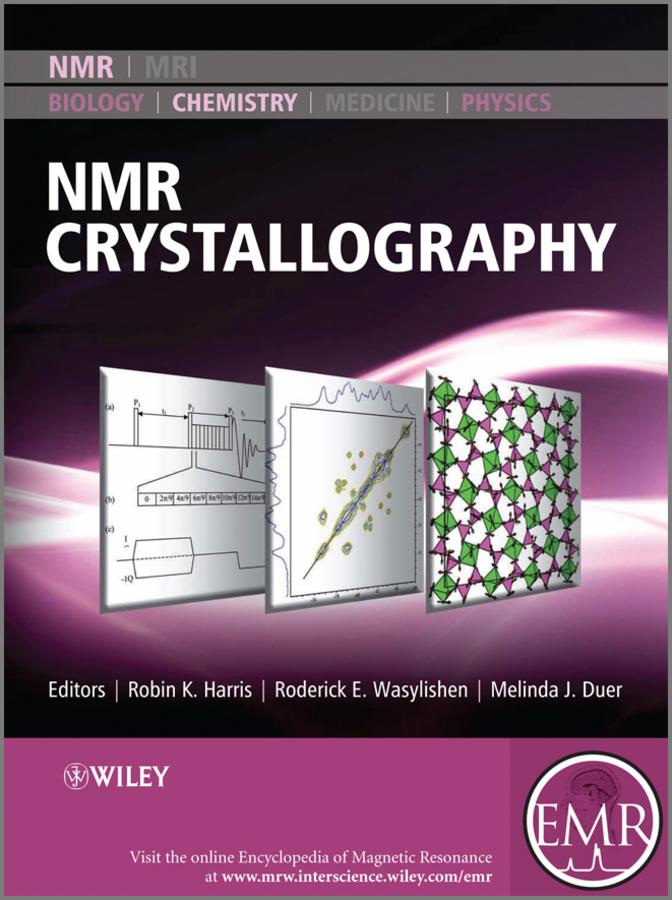 Melinda Duer J. NMR Crystallography caroline keenan probing changes at the lipid water interface via xe 129 nmr