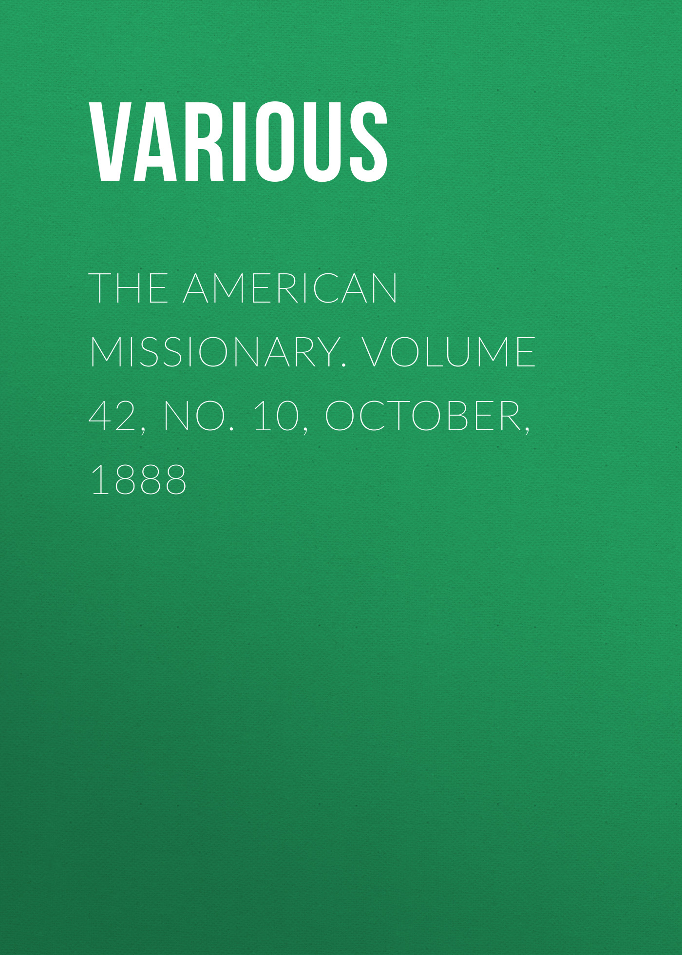 Various The American Missionary. Volume 42, No. 10, October, 1888 fluted sleeve open front cardigan