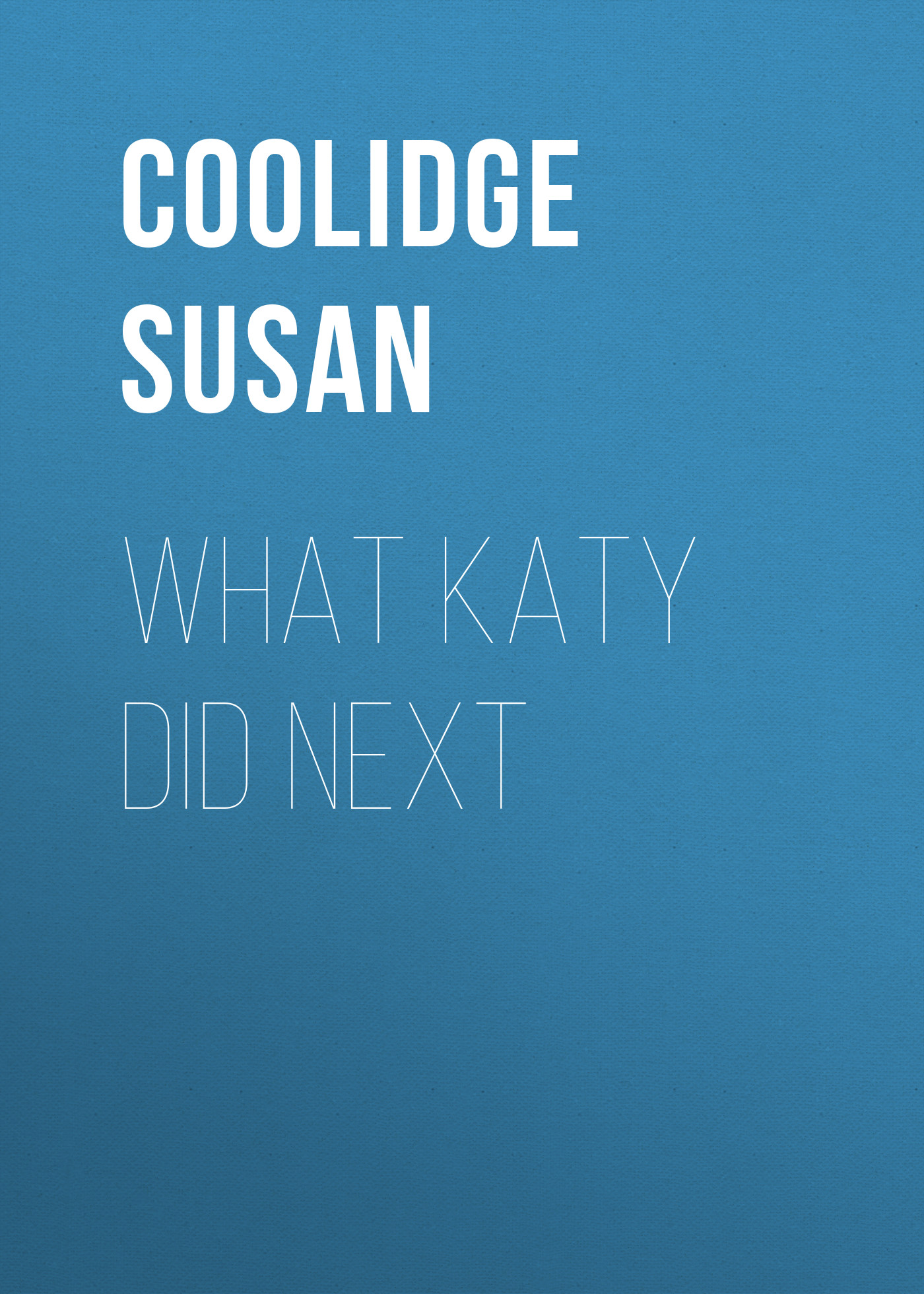 Coolidge Susan What Katy Did Next coolidge susan clover