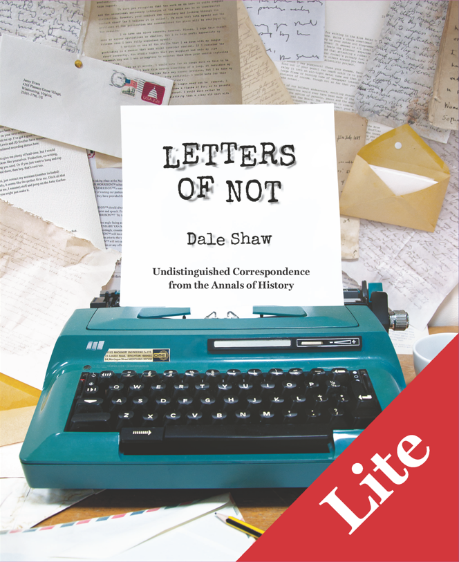 Dale Shaw Letters of Not Lite цена
