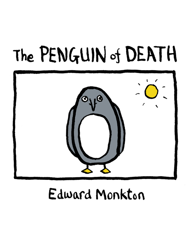 Edward Monkton The Penguin of Death pair of characteristic rhinestone penguin shape earrings for women