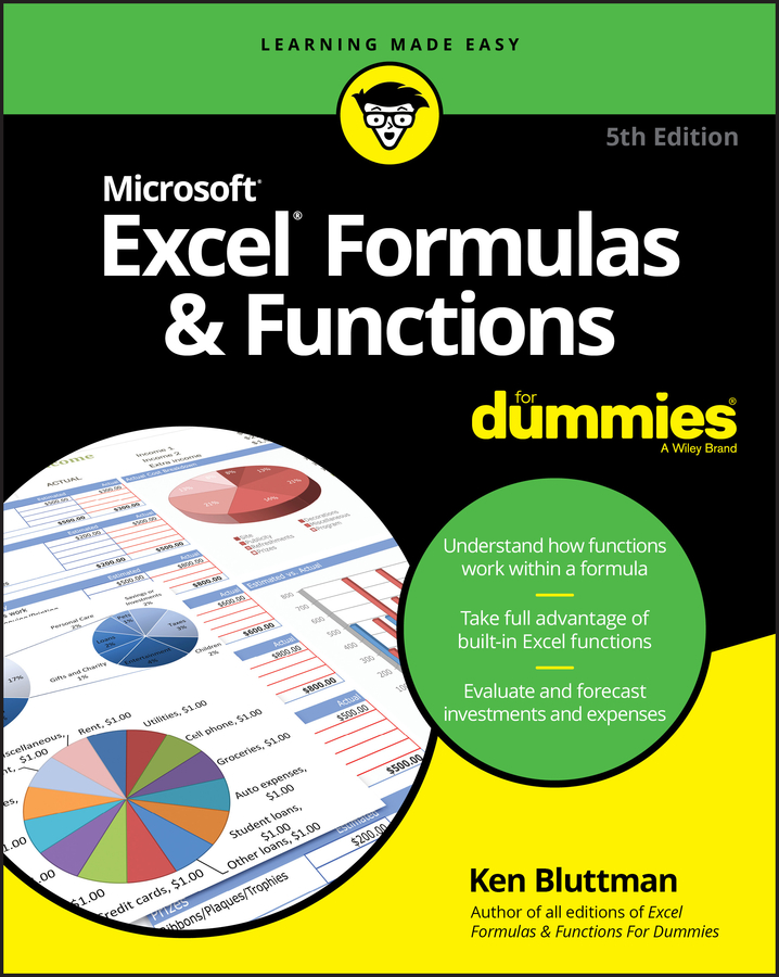 Ken Bluttman Excel Formulas & Functions For Dummies недорго, оригинальная цена