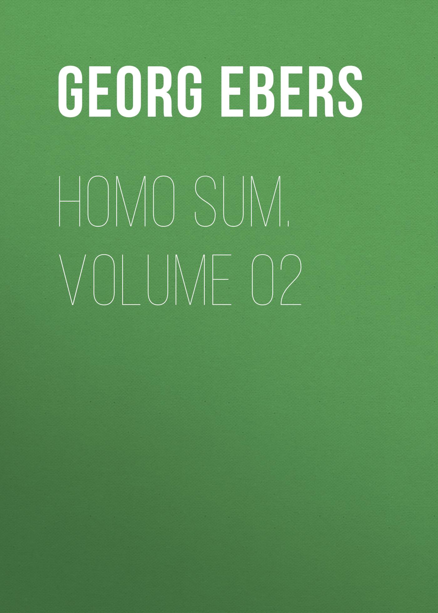 Georg Ebers Homo Sum. Volume 02 georg ebers antike portraits die hellenistischen bildnisse aus dem fajjum