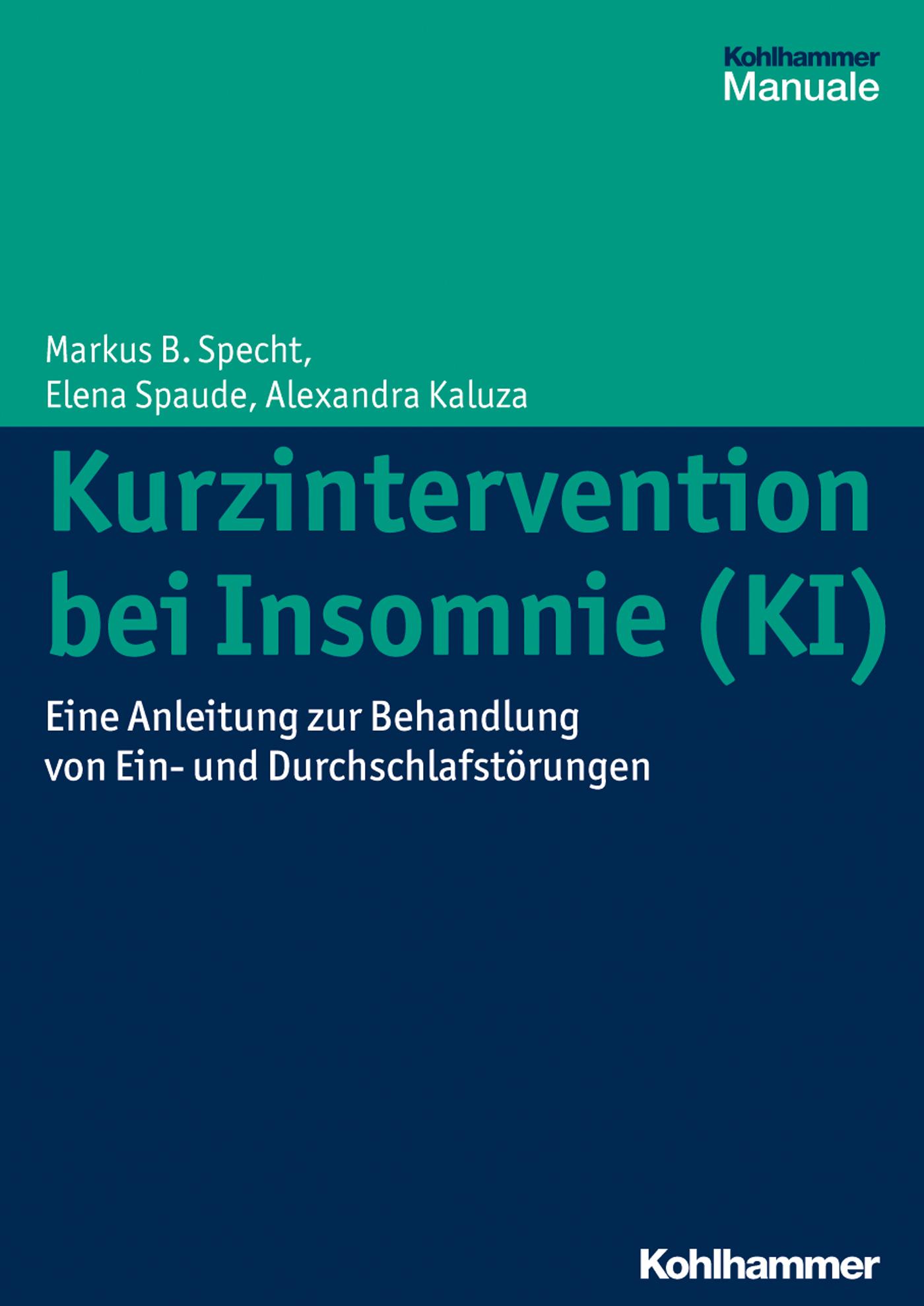 цены Markus B. Specht Kurzintervention bei Insomnie (KI)
