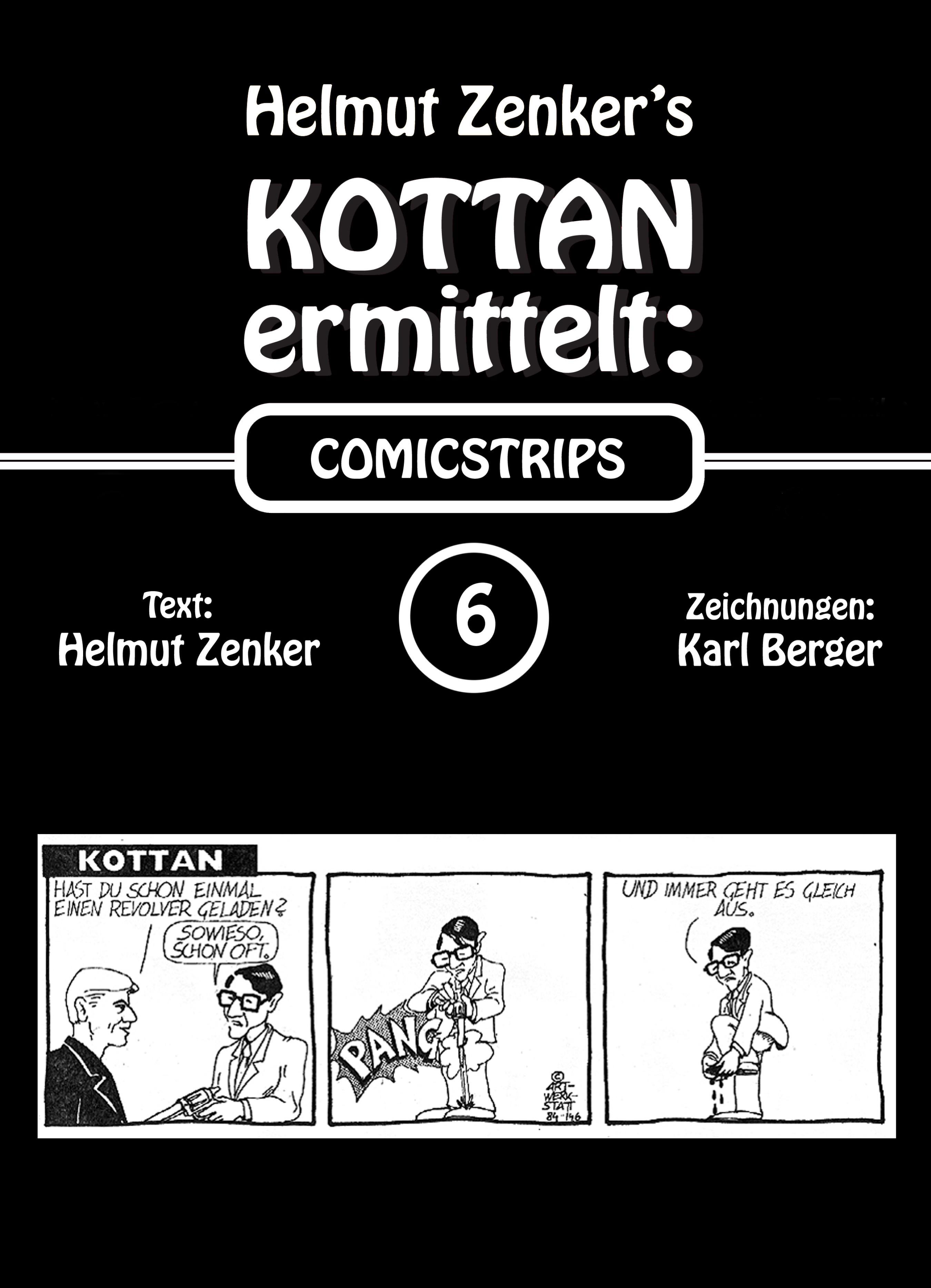 Helmut Zenker Kottan ermittelt: Comicstrips 6 helmut zenker kottan ermittelt mord in schönbrunn
