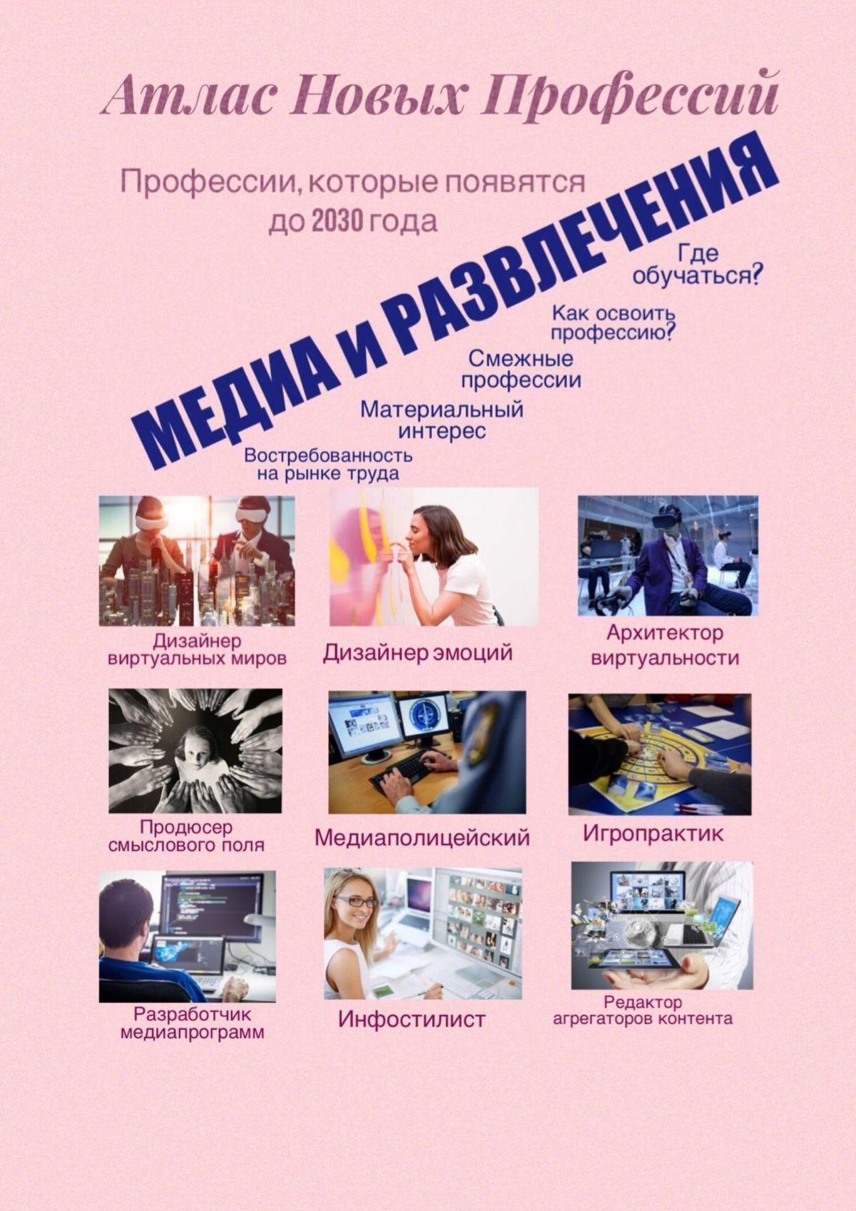 Татьяна Александровна Тонунц Атлас новых профессий. Медиа иразвлечения. Профессии, которые появятся до 2030 года