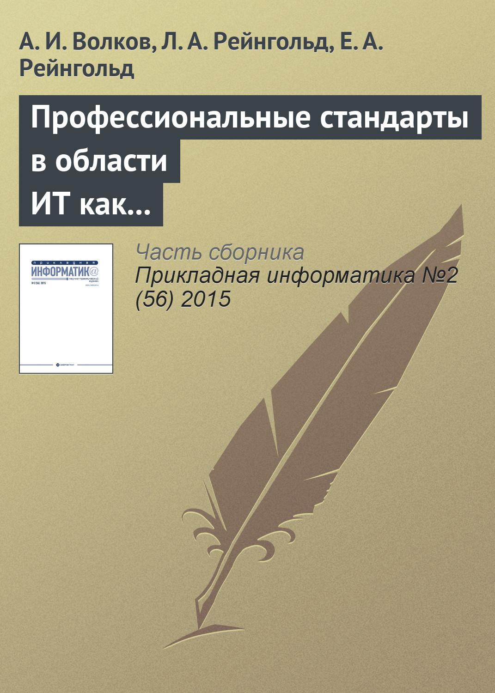 купить А. И. Волков Профессиональные стандарты в области ИТ как фактор технологического и социального развития по цене 152 рублей