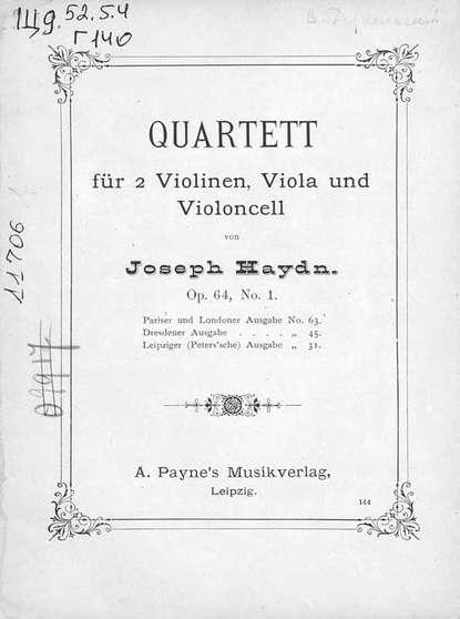 Фото - Йозеф Гайдн Quartett гайдн йозеф клавирные сонаты уртекст в 2 х томах