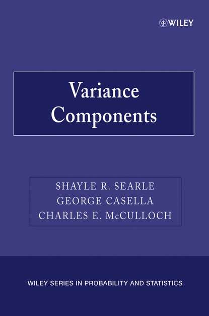 George Casella Variance Components chihiro hirotsu advanced analysis of variance