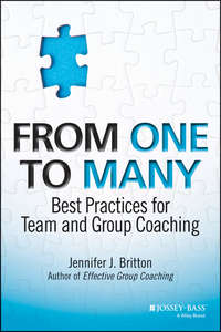 From One to Many. Best Practices for Team and Group Coaching
